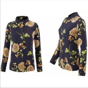 Cabi Kyoto Floral Blossom Button Down Top